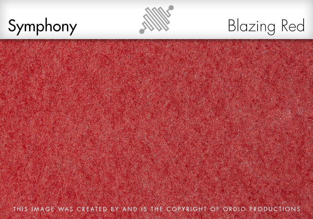 Autex Symphony Fabric | Blazing Red
