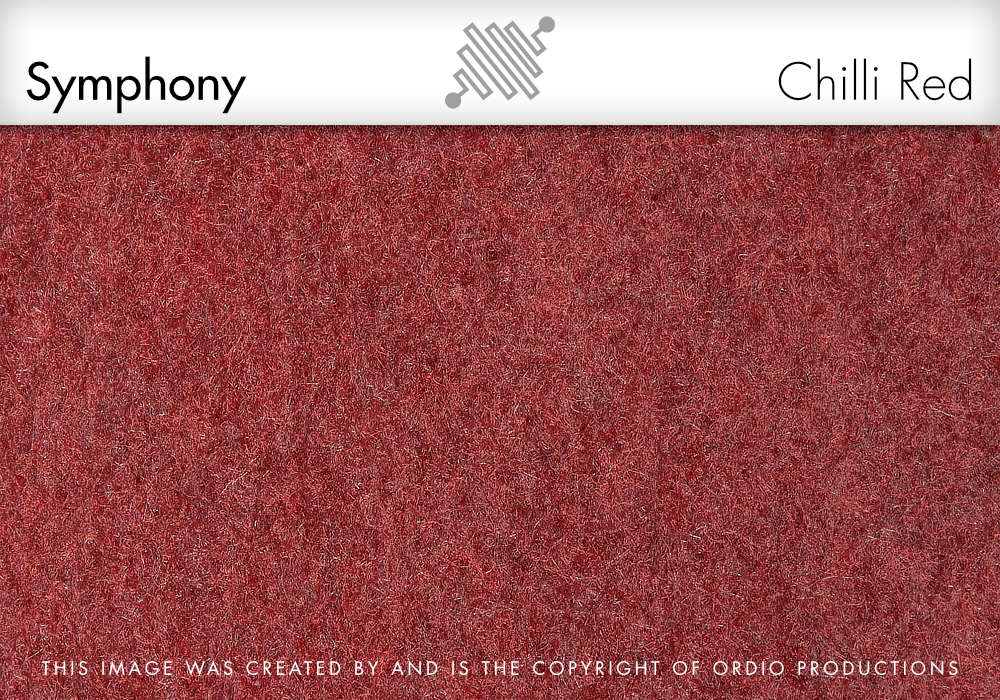 Autex Symphony Fabric | Chilli Red