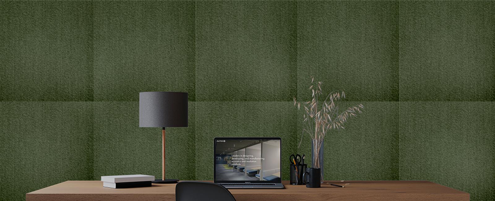 Autex Composition Peel 'n' Stick Tiles | Avocado