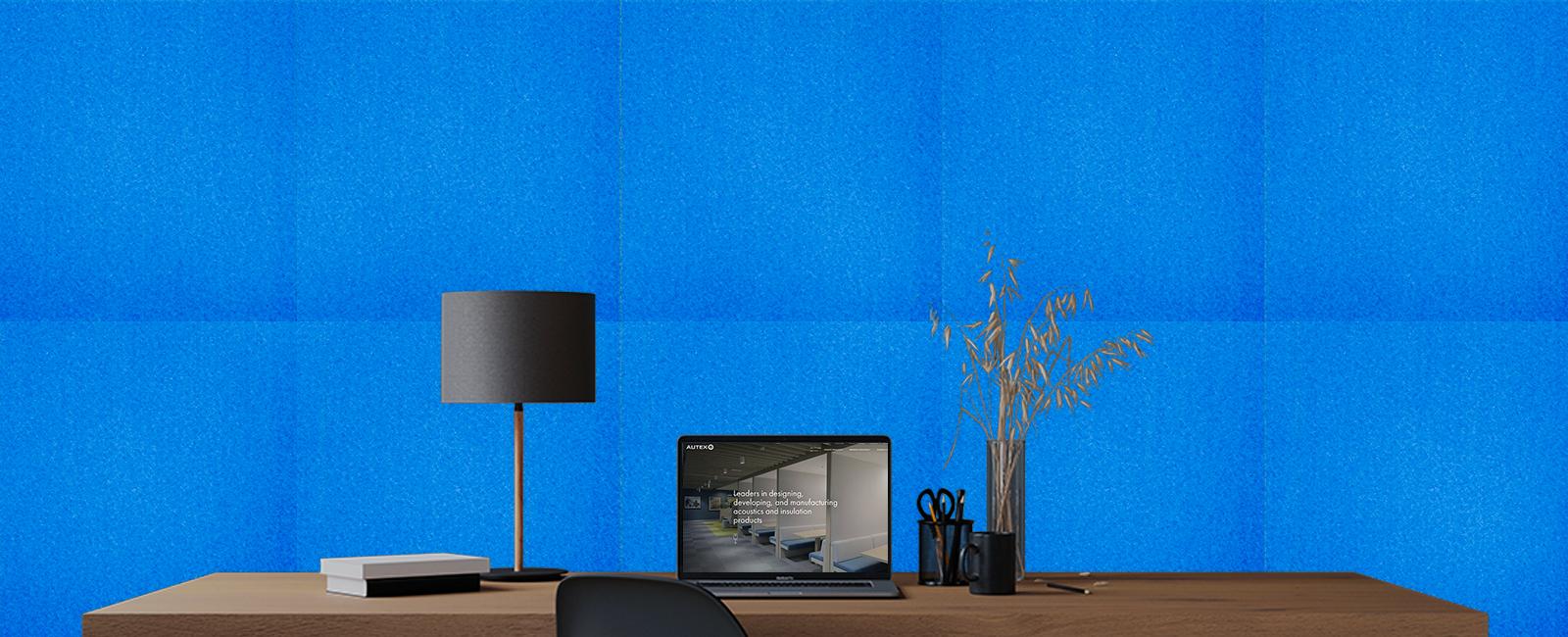 Autex Composition Peel 'n' Stick Tiles | Electric Blue
